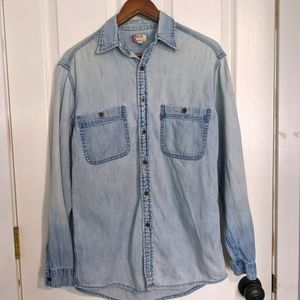 Vintage Levi's denim button up Men's small Red Tab